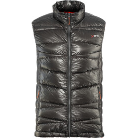 Y by Nordisk Cavoc Gilet sans manches en duvet ultra léger Homme, dark gull grey/madarin red